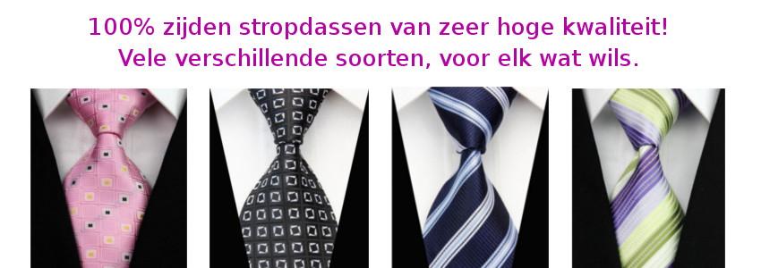 100% zijden stropdassen